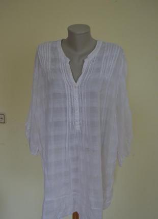 Шикарная легкая воздушная коттоновая блузочка большого размера