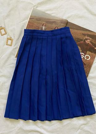 Синяя теннисная юбка электрик