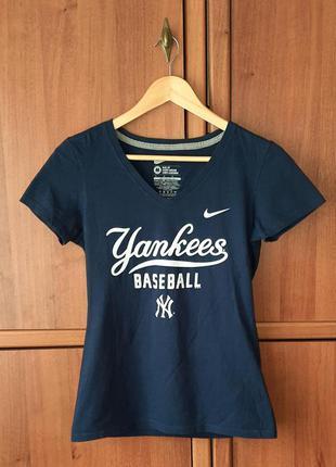 Жіноча футболка/женская футболка nike new york yankees baseball