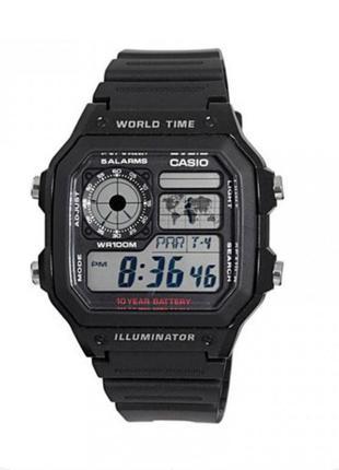 Часы casio world time multifunction ae1200wh-1av