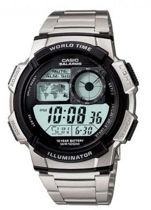 Часы casio world time illuminator 44mm ae1000wd-1av