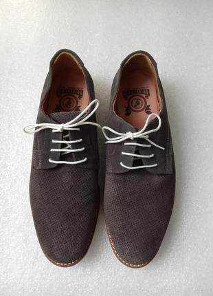 Замшевые мужские туфли размер 44 стелька 29 см