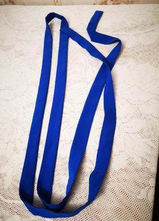 Пояс синий, ремень длинный