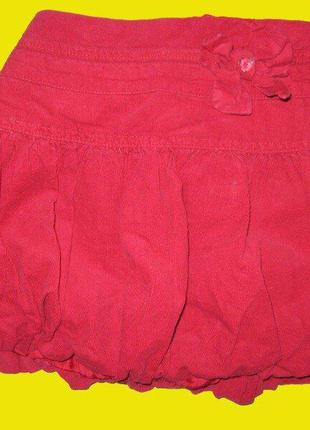 Микровельветовая,нарядная юбка на 6-7 лет,dunnes