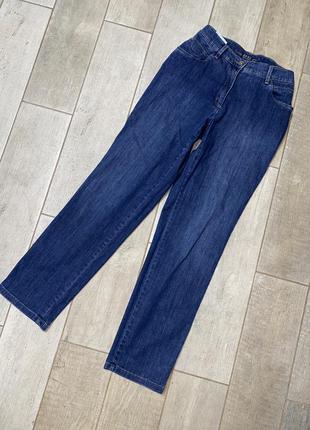 Синие прямые джинсы,летние джинсы(14)
