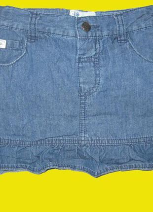 Джинсовая юбка на 3-4 года,рост 104 см,mantaray