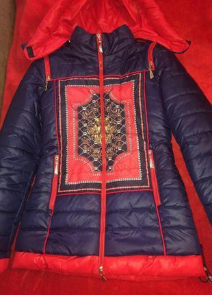 Куртка,зимняя курточка,пуховик,теплая,удлиненная с капюшоном