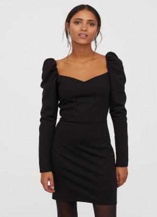 Плотное трикотажное платье от h&m
