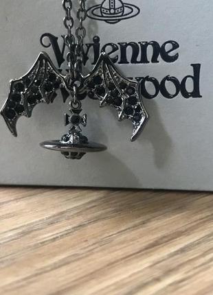 Ожерелье подвеска vivienne westwood летучая мышь