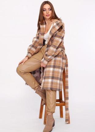 Длинное пальто-рубашка