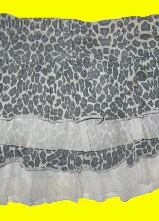 Леопардовая юбка на 3-5 лет,george