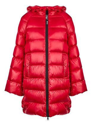 Новый пуховик twin-set италия твин сет куртка красная парка на пуху