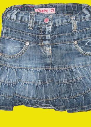 Джинсовая юбка на 4-6 лет,vingino