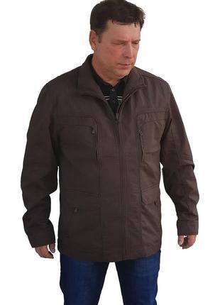 Into батального размера осенняя мужская куртка из натуральной ткани