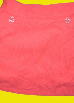 Яркая вельветовая юбка,рост 98 см,mothercare