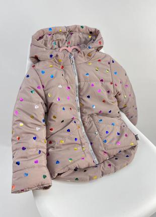 Куртка демісезонна тепла та зручна з кишенями