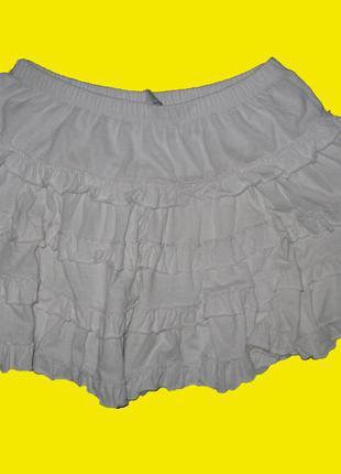 Белая юбка на рост 140-152 см,zara