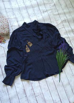 Нереальная блуза в горох с обьемными рукавами