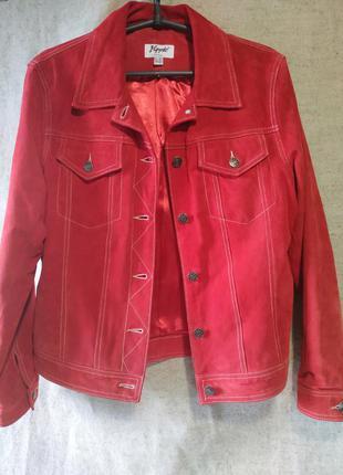 Замшевая куртка по типу джинсовки, натуральная кожа. yuppie company
