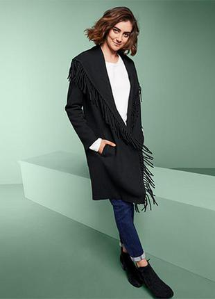 Комфортный кардиган/пальто,мягкое качество с содержанием шерсти от tchibo(германия) размер ев. 40/42