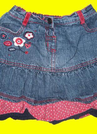 Джинсовая юбка с минни-маусом на 2-3 года,мatalan