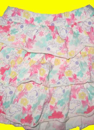 Летняя юбка с пеппой,рост 98 см,peppa pig