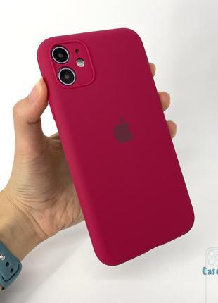 Чехол silicone case full camera iphone 11 айфон