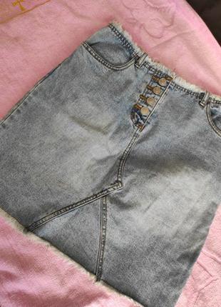 Модная джинсовая юбка dare 10р