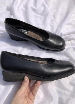Немецкие туфли с мехом из натуральной кожи sioux