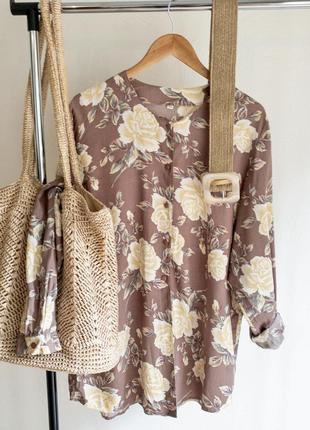 Удлиненная блуза свободного кроя