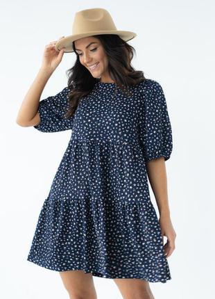 Платье двухъярусное свободного фасона