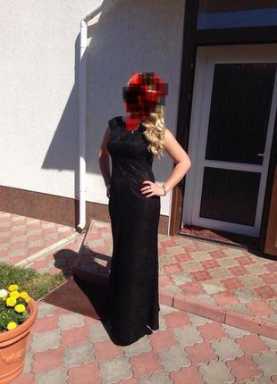 Платье в пол, вечернее кружево, ажур