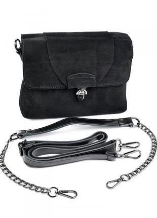 Женская кожаная замшевая сумка клатч кожаный   жіноча шкіряна сумочка