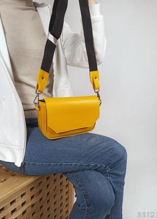 Жовта кросбоді жіноча сумочка через плече, женская желтая кроссбоди женская