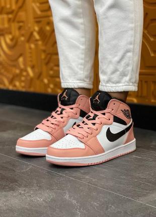 Женские кроссовки nike air jordan   high s pink