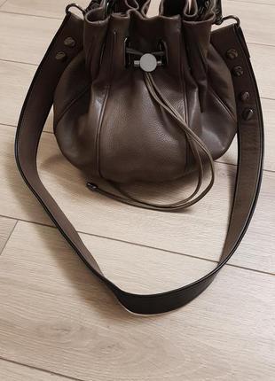 Люкс сумка mimco, кожаная сумка мешок кроссбоди mimco, сумка ведро, сумка торба, шкіряна сумка