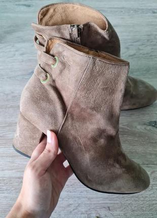 Ботинки сапожки полусапожки замш minelli черевики чоботи чобітки