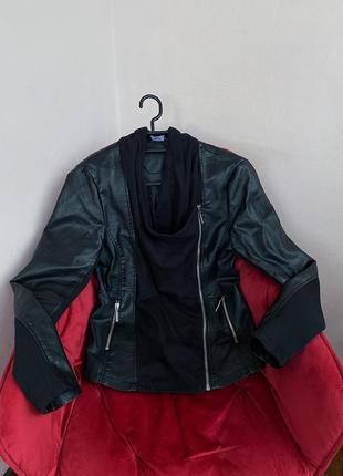 Косуха из экокожи кожанка кожаная куртка