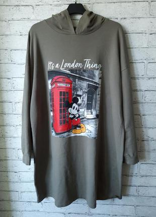 Платье-худи с капюшоном lc waikiki disney микки маус (большой размер)