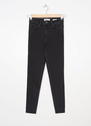 Черник джинси высокая посадка