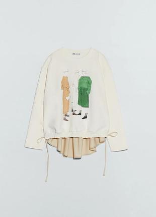 Модный свитшот размер с,м,л zara оригинал новая коллекция
