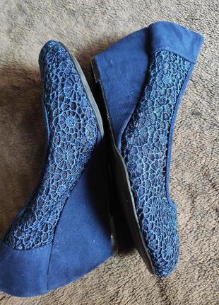 Туфли женские кружевные new look размер 37-38/5