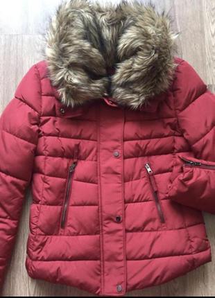 Bershka фирменная куртка осень-зима женская яркая