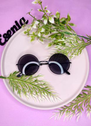 Чорні круглі окуляри очки круглые черные лепс, базилил, леннон леннонки