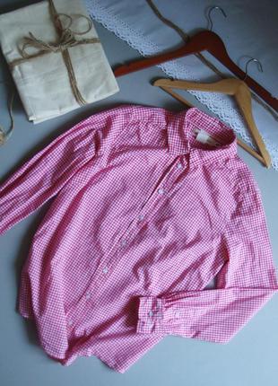 Натуральная рубашка в клетку с длинным рукавом м l xl xxl