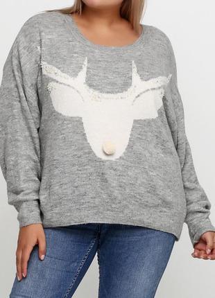 Вязанный свитер, джемпер h&m из мягкой пряжи с добавлением шерсти.