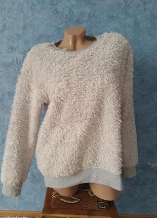 Шикарная теплая махровая мягкая пижама кофта+штаны