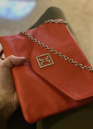 Кожаная сумка клатч coccinelle/наложка