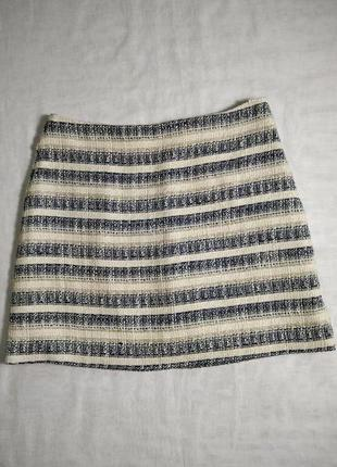 Стильная юбка в полоску на подкладке от f&f