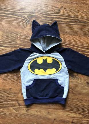 Кофта с капюшоном и ушками бэтмен